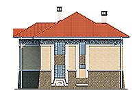 Проект бетонного дома 59-30 фасад