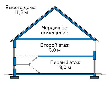 Проект бетонного дома 59-30 план