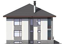Проект бетонного дома 59-33 фасад