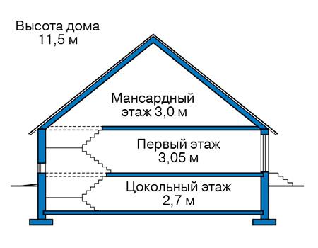 Проект бетонного дома 59-33 план