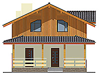 Проект бетонного дома 59-36 фасад