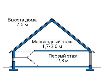 Проект бетонного дома 59-36 план