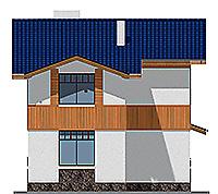 Проект бетонного дома 59-39 фасад