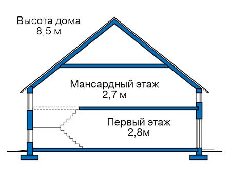 Проект бетонного дома 59-39 план