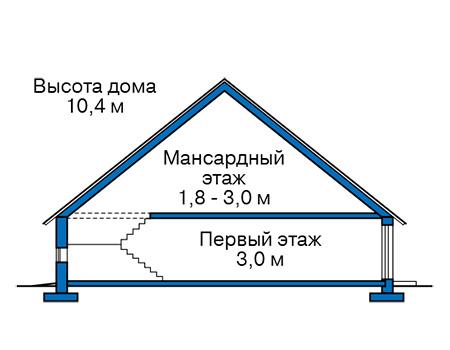 Проект бетонного дома 59-41 план