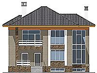 Проект бетонного дома 59-43 фасад