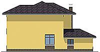 Проект бетонного дома 59-44 фасад