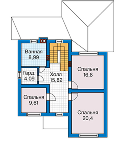 Проект бетонного дома 59-44 план