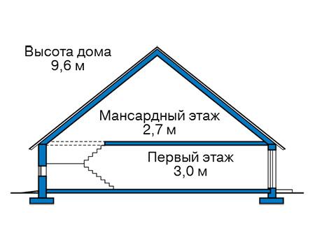 Проект бетонного дома 59-46 план