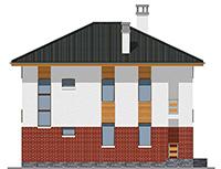 Проект бетонного дома 59-47 фасад
