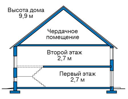 Проект бетонного дома 59-47 план