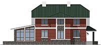 Проект бетонного дома 59-55 фасад