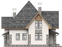 Проект бетонного дома 59-63 фасад