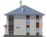 Проект бетонного дома 59-71 фасад