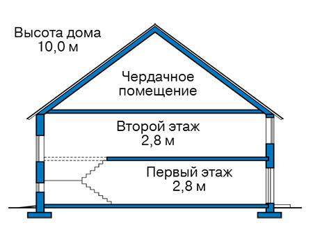 Проект бетонного дома 59-71 план