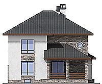 Проект бетонного дома 59-87 фасад