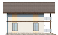 Проект бетонного дома 59-88 фасад