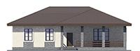 Проект бетонного дома 59-94 фасад