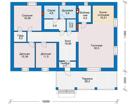 Проект бетонного дома 59-94 план