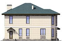 Проект бетонного дома 59-96 фасад