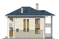 Проект бетонного дома 60-04 фасад
