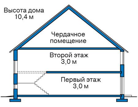 Проект бетонного дома 60-04 план