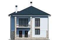 Проект бетонного дома 60-05 фасад