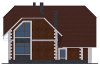 Проект бетонного дома 60-08 фасад