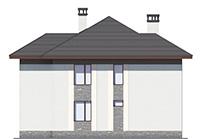 Проект бетонного дома 60-15 фасад