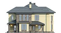 Проект бетонного дома 60-18 фасад