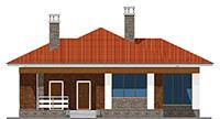 Проект бетонного дома 60-23 фасад