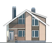 Проект кирпичного дома 70-36 фасад