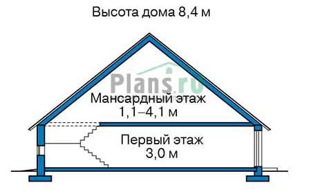 Проект кирпичного дома 70-36 план