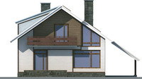 Проект кирпичного дома 70-37 фасад