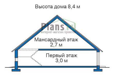 Проект кирпичного дома 70-37 план