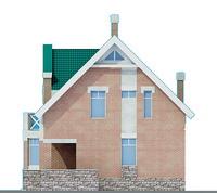 Проект кирпичного дома 70-39 фасад