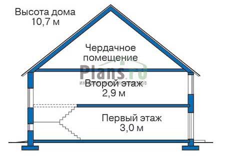 Проект кирпичного дома 70-39 план
