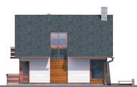 Проект кирпичного дома 70-40 фасад