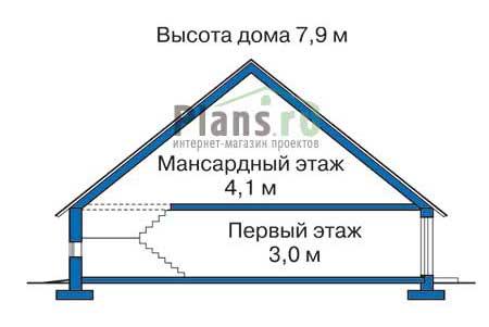 Проект кирпичного дома 70-40 план