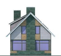 Проект кирпичного дома 70-42 фасад
