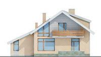 Проект кирпичного дома 70-43 фасад