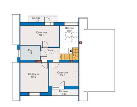 Проект кирпичного дома 70-43 план
