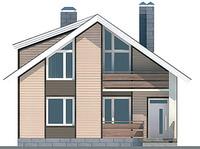 Проект кирпичного дома 70-44 фасад
