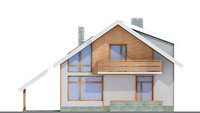 Проект кирпичного дома 70-45 фасад