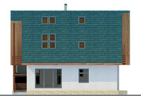 Проект кирпичного дома 70-46 фасад
