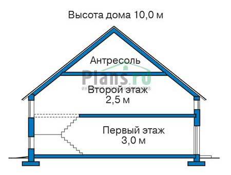 Проект кирпичного дома 70-46 план