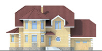Проект кирпичного дома 70-48 фасад