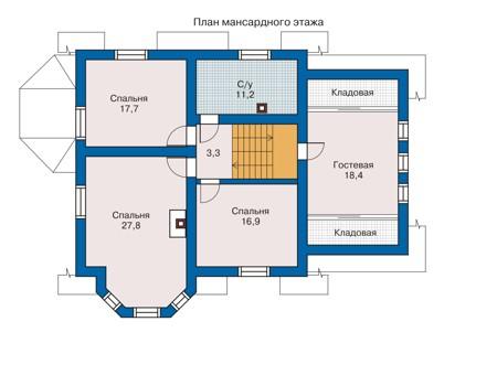 Проект кирпичного дома 70-48 план