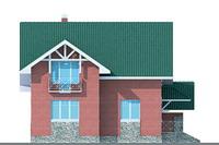 Проект кирпичного дома 70-51 фасад