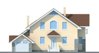 Проект кирпичного дома 70-52 фасад